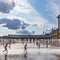 Fountains, Granary Square, King's Cross