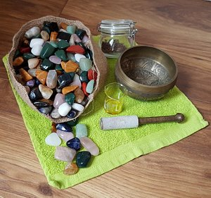 just a few of the healing items used at Raven Holistics