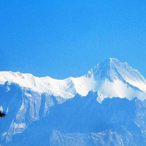 Annapurna peaks (Annapurna 4 and 2) seen from Thulokot, also known as Australian Camp above Dhampus, a beautiful place for mountain views and one the best for raptor migration watch