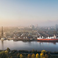 Stocznia Cesarska - w samym sercu Gdnska. Imperial Shipyard - in the heart of Gdańsk.