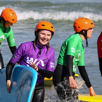 Beginner lessons led by our amazing team of qualified coaches.   At The Wave we're able to offer consistent safe waves that make learning to surf lots of fun for everyone, whatever their age or fitness level. We cater for people of all abilities, including those with learning or physical disabilities.