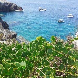 Grotta delle rondinelle. Accessibile via mare dalla caletta dei benedettini.