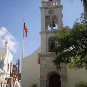 torre campanario de la Church of Zoodochou Pigis