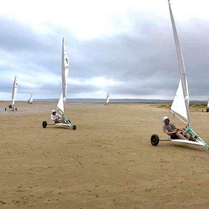 Char à Voile Char Expérience à la plage du Rouet de La Palme