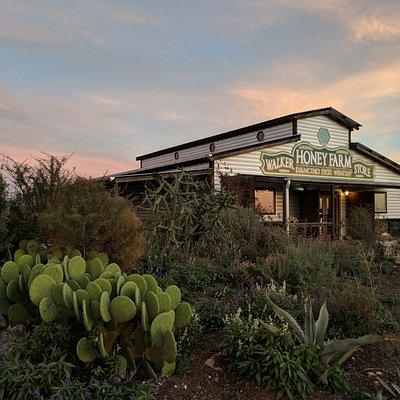Native Plant Garden and Farm Store Entrance.