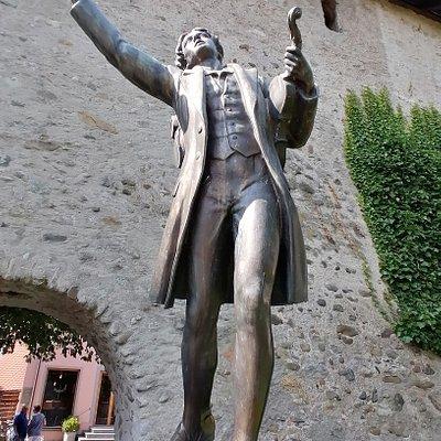 """Bronzedenkmal """"der Taugenichts"""""""