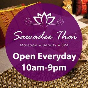 Sawadee Thai Bristol is open everyday 10am-9pm (last updated 14/08/2020)