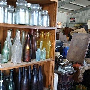 Spog's Shed Minlaton  SA  bottle galore