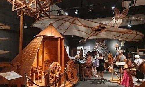 La foto panoramica di alcune delle attrazioni del Leonardo da Vinci Interactive Museum®