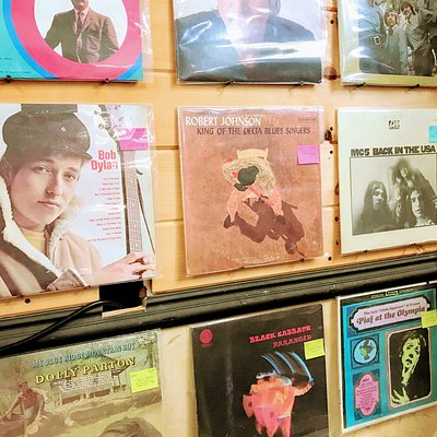 Oh My Gosh! The collection of vinyl is amazing! Love created wall art from some of the more beautiful and classic album covers, my customers love this look.