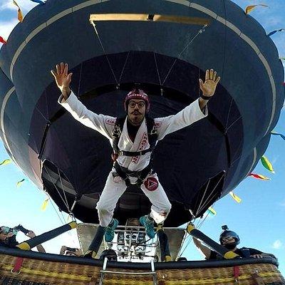 Unica Equipe a realizar saltos do balão  EquipeChico Balinismo