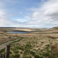Following the Pennine Way above Standedge Tunnels, across Rocher Moss