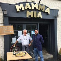 Outside Owner Saverio and Tony The Chef
