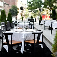 Outdoor dining at Ostra