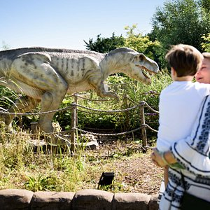 The dinosaurs can look quite intimidating, but luckily they won't bite.
