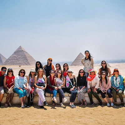 Our GAT Tours Group at Pyramids of Giza