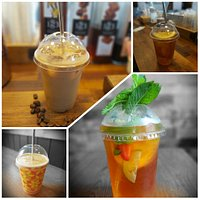 Iced coffees, teas, smoothies and pimms 😋