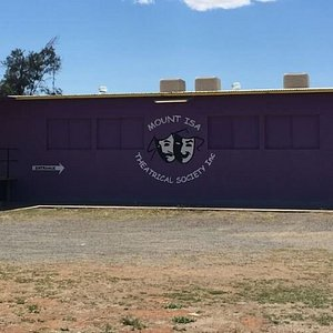 Mount Isa Theatrical Society - the purple building on Transmission Street.