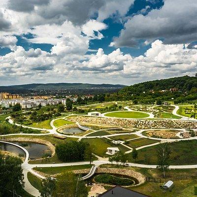 Widok Ogrodu na zboczu Góry Karczówka