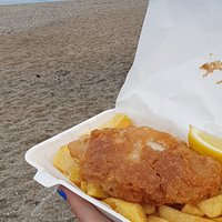 Cornish fish and chips (freshly caught hake)