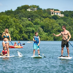 Paddle boarding with the family!