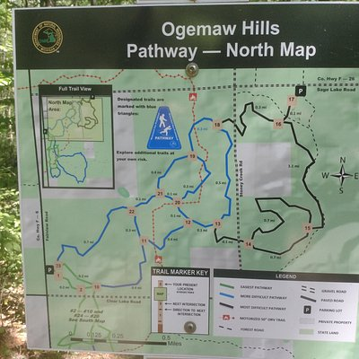 This is the north map of the well marked trails.