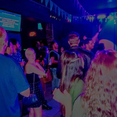 Karaoke fun in Manila Bar, Cape Town.