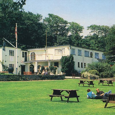 Our museum building in the lovely setting of Sparrows Nest Gardens.  These buildings were built by the Navy at the start of WW2 for the Royal Naval Patrol Service.