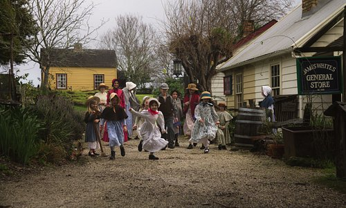 Children playing at Howick Historical Village