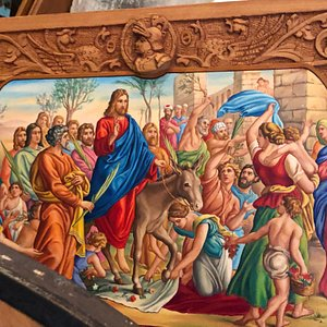 Part of cart painting