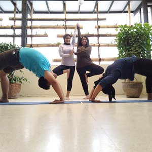Yoga Class at ViaVia Travel (now Covid Protocol is implemented)