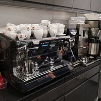 Mathew Algie Coffee sold as well as specialist tea from twinnings and tetley. Due to covid-19 we are now table service withy out wait to be seated point and separate Takeaway area.