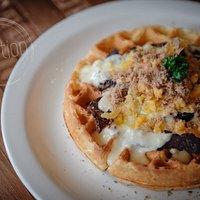 Biltong & cheese waffle