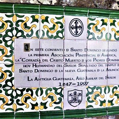"Arriving at the ""Casa Santo Domingo"" in the historic center of Antigua."