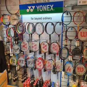 Largest selection of Badminton rackets for miles