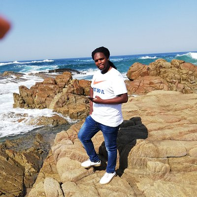 Taking pics at the lovely Tweni beach
