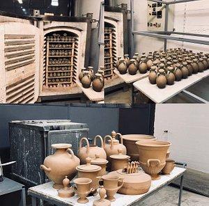 Pottery workshop.
