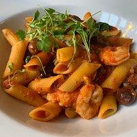 Spicy Prawn Puttanesca