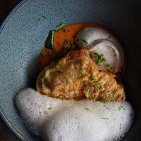 From our signature menu: Deconstructed Hor Mok