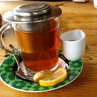 herbata z miodem i imbirem