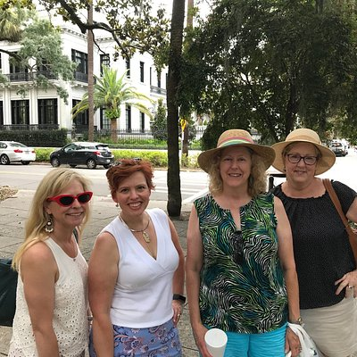 A group from Raleigh-Durham fresh off enjoying an afternoon Just Around Midnight/Midnight in the Garden of Good and Evil Tour.