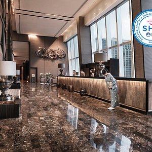 Hotel lobby 25th fl.