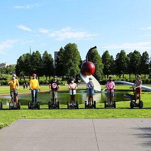 Photo at our iconic Minneapolis Walker Sculpture Garden Tour!