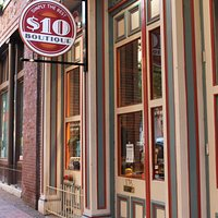 $10 Boutique is located in The Historic District of downtown Nashville in a building from the 1800's