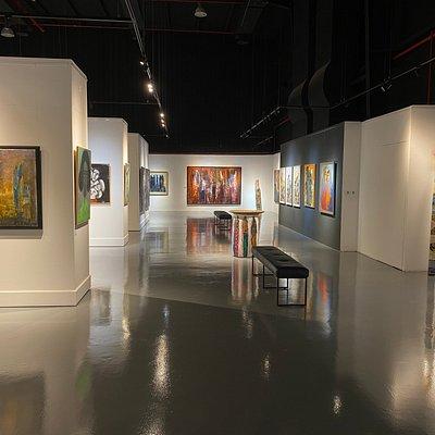 Walking through Alia gallery.