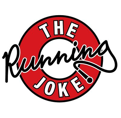 The logo for The Running Joke.