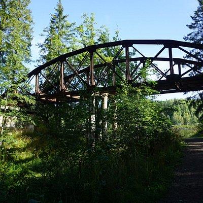 The old Russian steel bridge