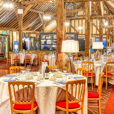 Our delightful 17th-century Sussex Barn is home to our restaurant, bar, meeting rooms, function space, gym, swimming pool and fitness studios.