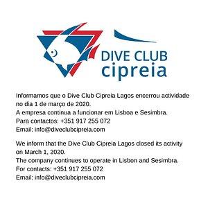 Dive Club Cipreia Lagos   ENCERRADO CLOSED
