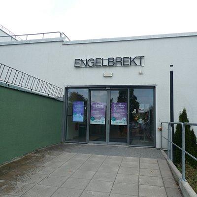 Bakre ingången till Engelbrekt Galleria i Ludvika